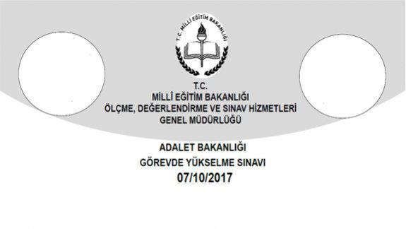Genel Müdürlüğümüzce 07 10 2017 tarihinde yapılan Adalet Bakanlığı Görevde